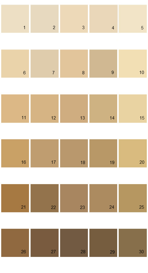 Pratt And Lambert Calibrated House Paint Colors - Palette 28