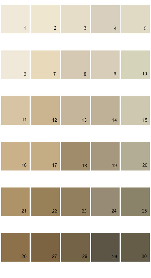 Pratt And Lambert Calibrated House Paint Colors - Palette 29