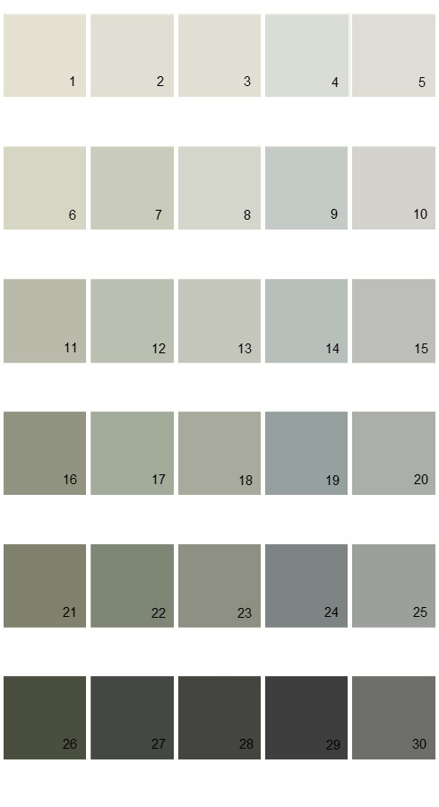 Pratt And Lambert Calibrated House Paint Colors - Palette 30