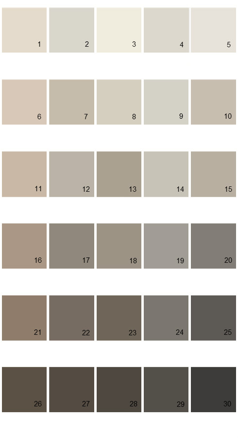 Pratt And Lambert Calibrated House Paint Colors - Palette 32