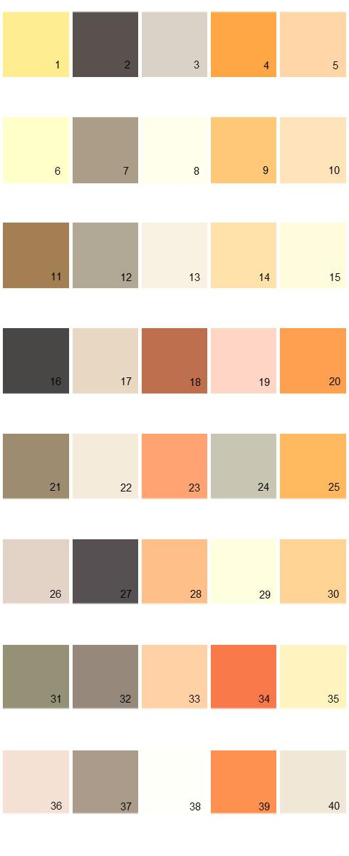 Pratt And Lambert House Paint Colors - Palette 05
