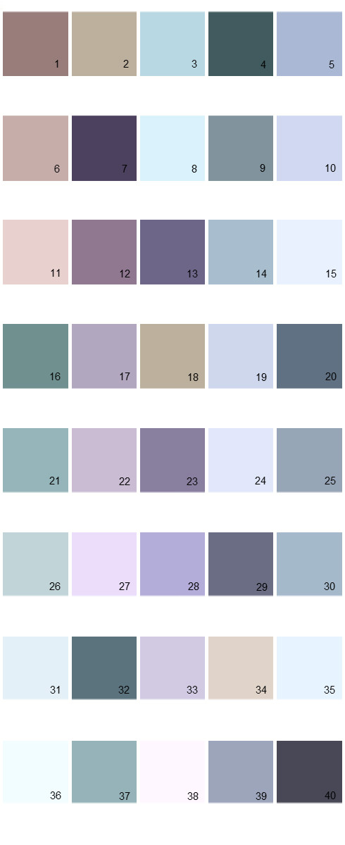 Pratt And Lambert House Paint Colors - Palette 13
