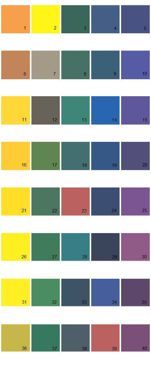 Pratt And Lambert House Paint Colors - Palette 21