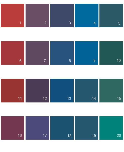 Pratt And Lambert Lights House Paint Colors - Palette 01