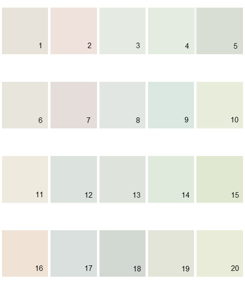 Pratt And Lambert Lights House Paint Colors - Palette 07