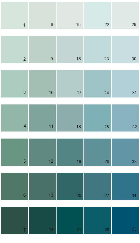 sherwin williams color options house paint colors palette 06 - Paint Color Options