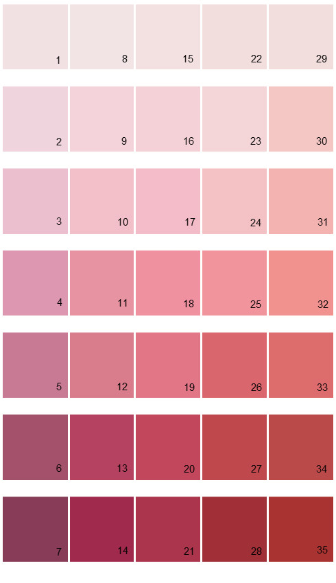 Sherwin williams paint colors color options palette 09 Colors that go with rose pink