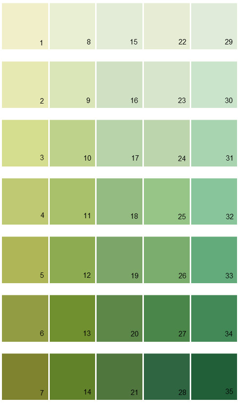 sherwin williams color options house paint colors palette 13 - Paint Color Options