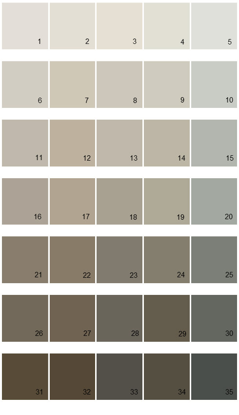 Sherwin Williams Essentials House Paint Colors   Palette 02