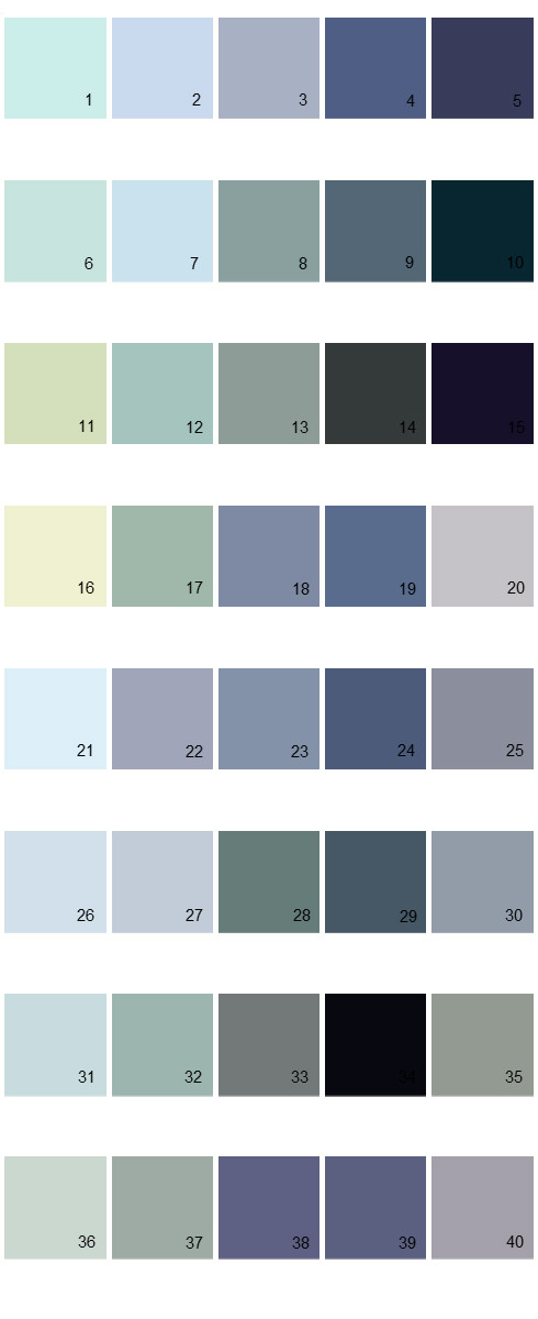 Valspar Colony House Paint Colors - Palette 04