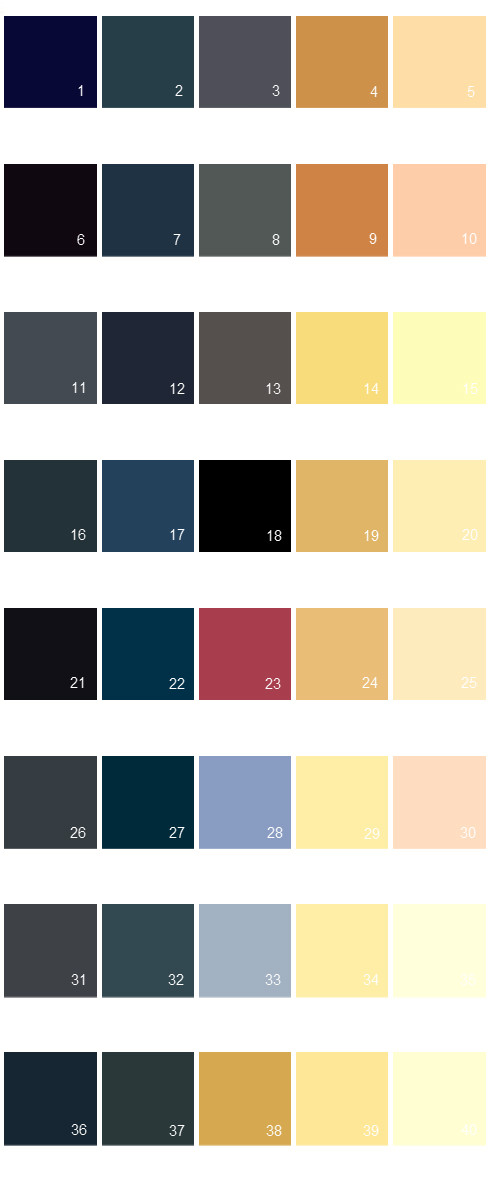 Valspar Colony House Paint Colors - Palette 07