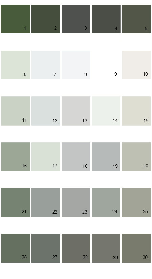 Valspar Tradition House Paint Colors - Palette 29