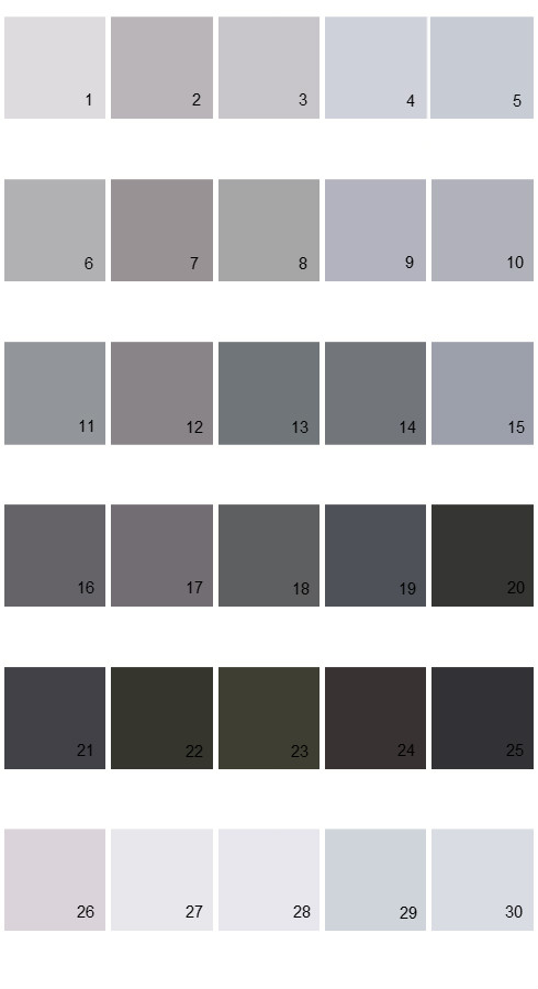 Valspar Tradition House Paint Colors Palette 42