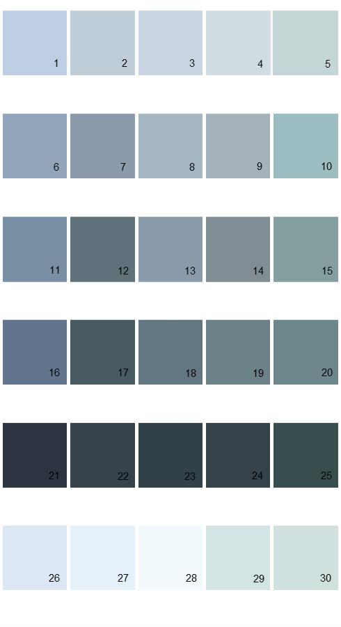 Valspar Tradition House Paint Colors - Palette 44