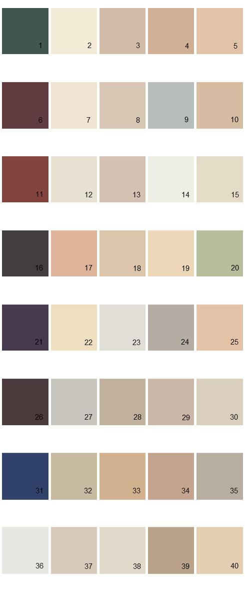 Behr House Paint Colors Palette 34