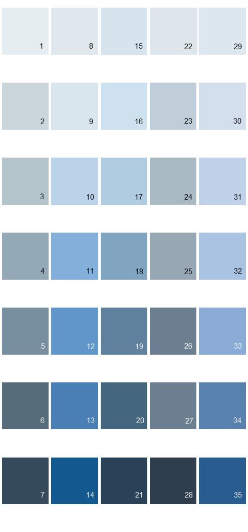 Behr Paint Colors Colorsmart Palette 29