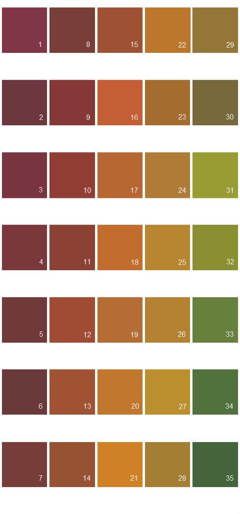 Behr Paint Colors Colorsmart Palette 45