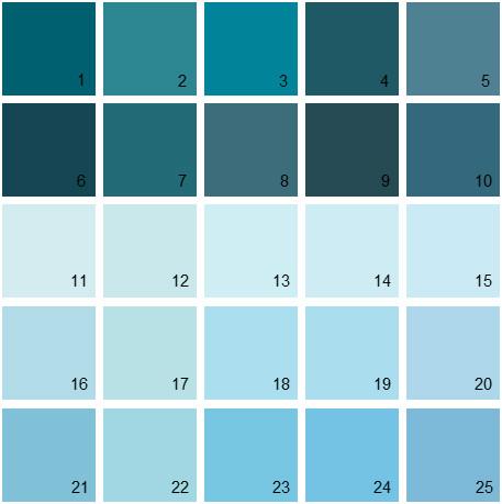 Benjamin Moore Blue House Paint Colors Palette 09