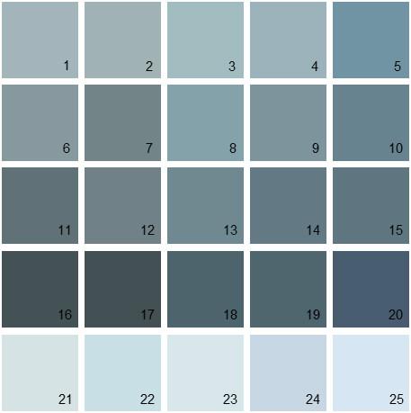 Benjamin Moore Blue House Paint Colors Palette 12