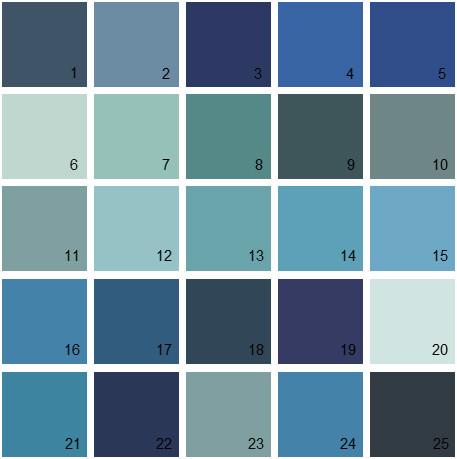 Benjamin Moore Blue House Paint Colors Palette 21