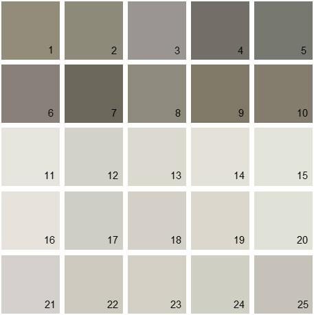 Benjamin Moore Gray House Paint Colors Palette 06