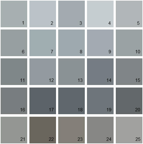 Benjamin Moore Gray House Paint Colors Palette 08
