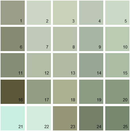 Benjamin Moore Green House Paint Colors Palette 15