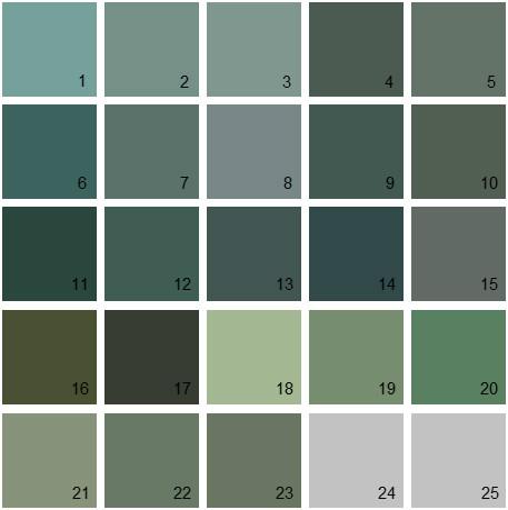 Benjamin Moore Green House Paint Colors Palette 27