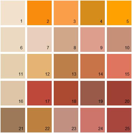 Benjamin Moore Orange House Paint Colors Palette 17