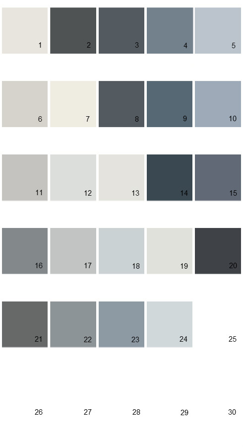 Pratt And Lambert Calibrated House Paint Colors Palette 33