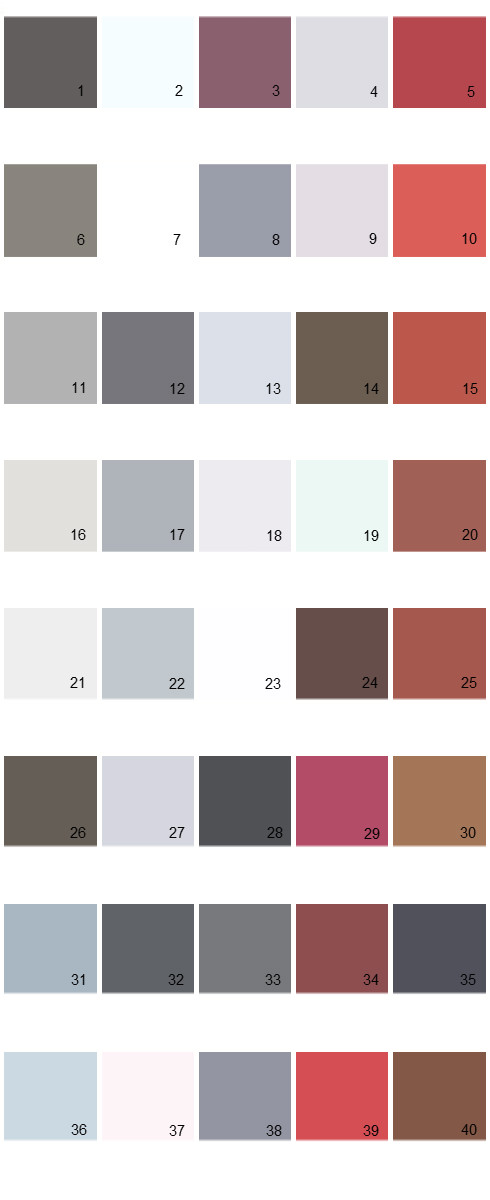 Pratt And Lambert Colors Palette 20